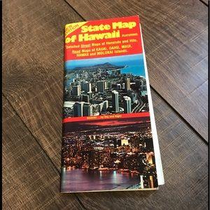 Vintage Hawaii Map- 1977